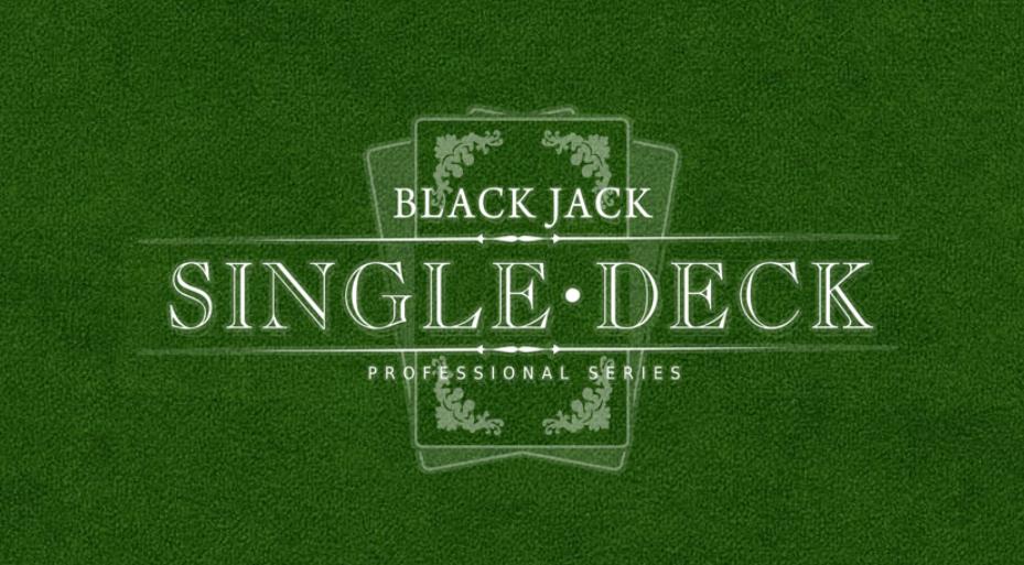 blackjack single deck low netent